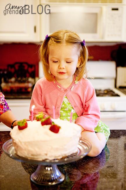 Hannah candles cake